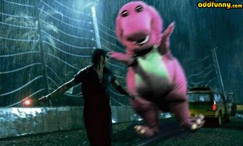 FYI: NOT how Barney is used in this movie.