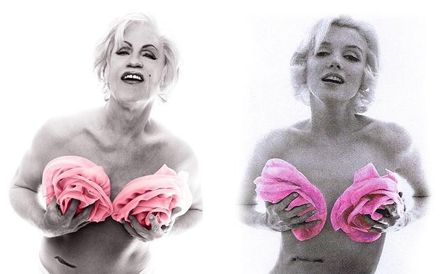 """Bert Stern's """"Marilyn in Pink Roses"""""""